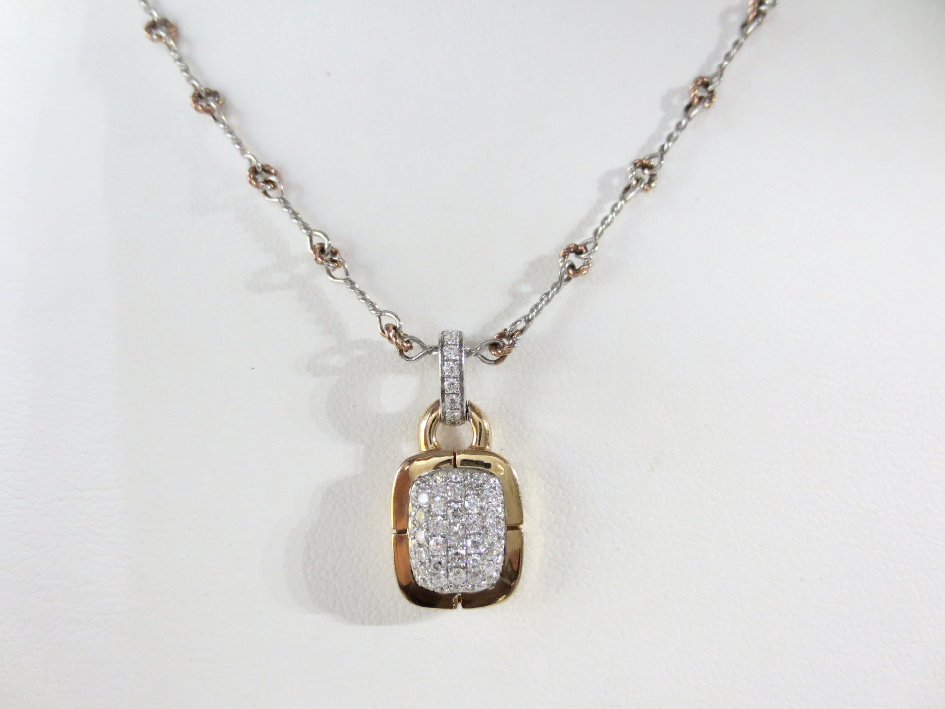 ksvhs necklace pretty bead square preville diamond lace penny pendant