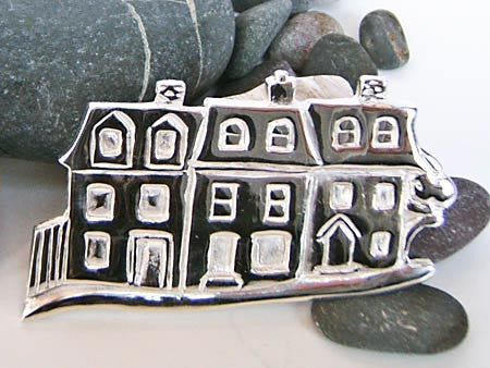 St. John's Row Houses Brooch