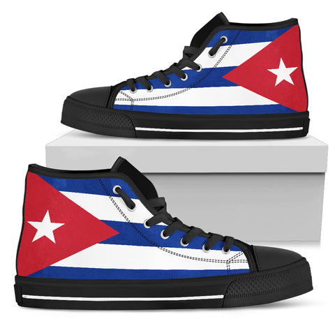 Cuba Flag High Top Sneakers Shoes