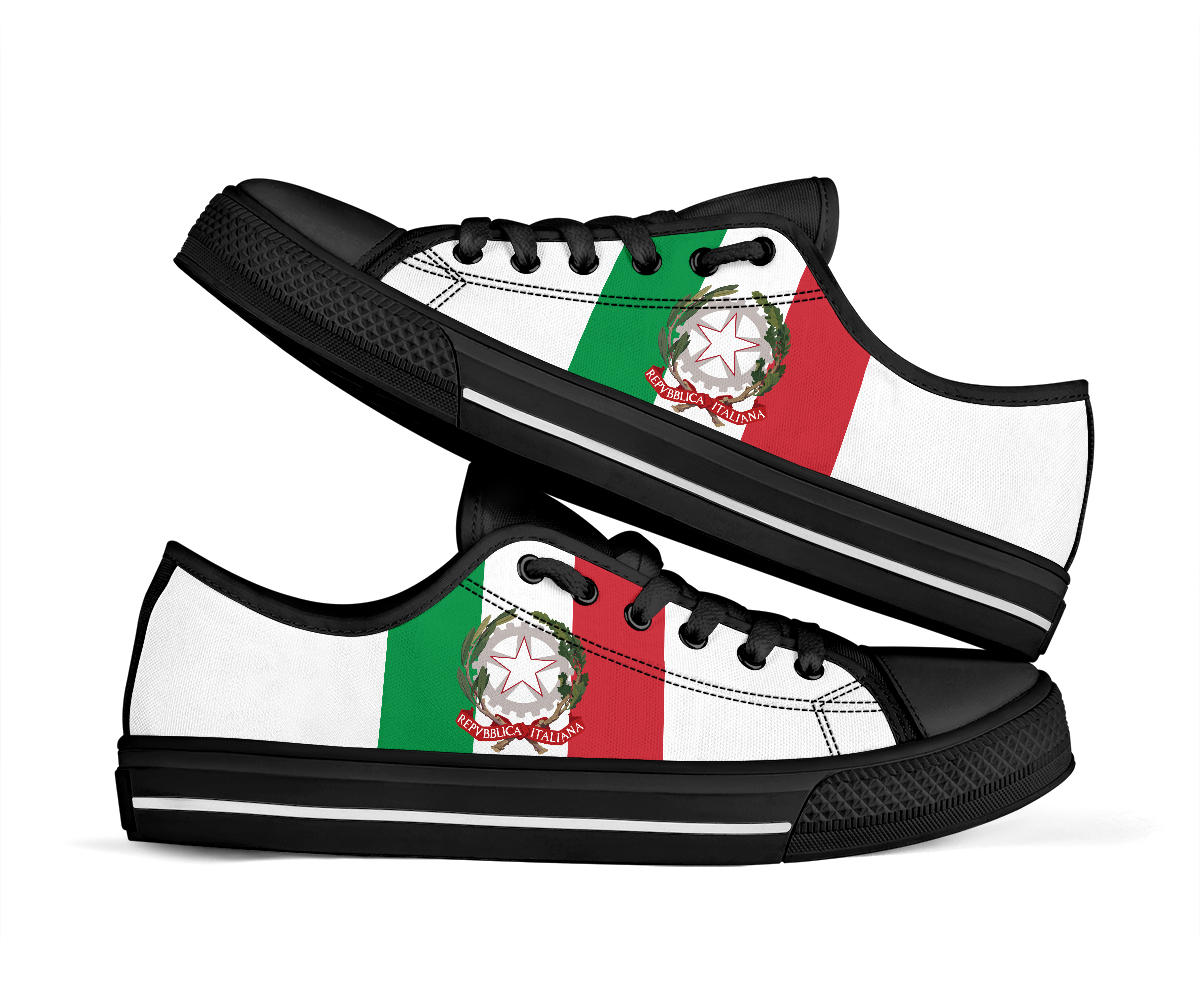 Italy Flag Low Top Sneakers 99promocode