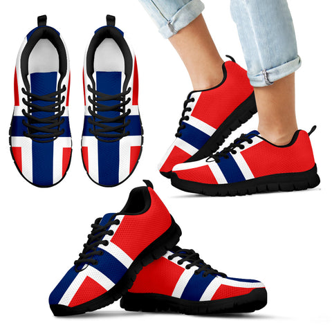 Norwegian Flag Sneakers for Kids