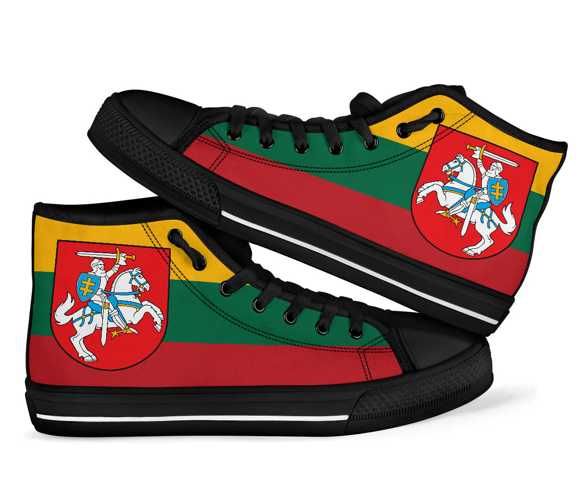 Lithuania Flag High Top Sneakers 99promocode