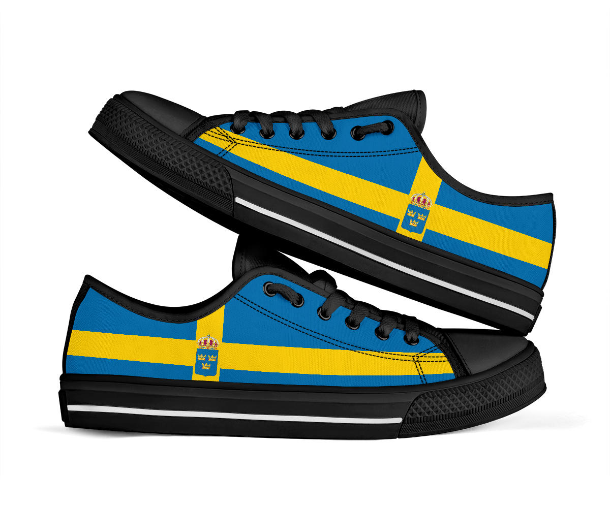 Sverige Sweden Swedish Low Top Sneakers 99promocode