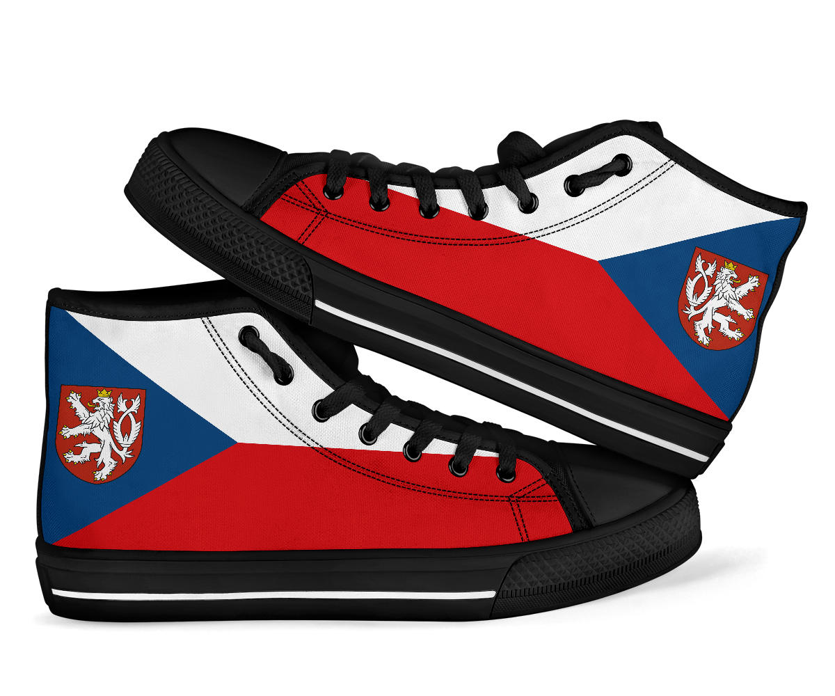 czech flag high top sneakers shoes 99promocode