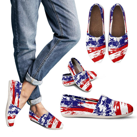 USA Flag Womens Casual Shoes