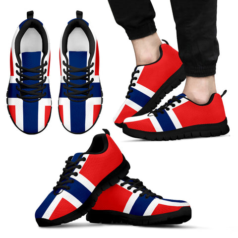 Norwegian Flag Sneakers for Womens Mens