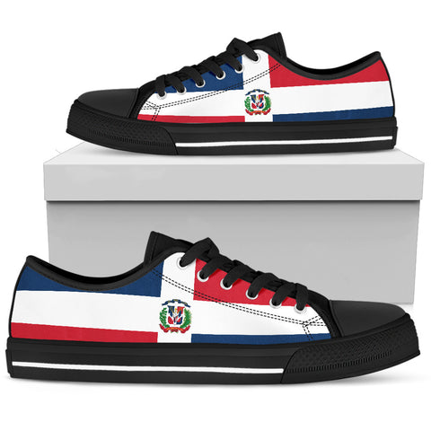 Dominican Republic Flag Low Top Shoes