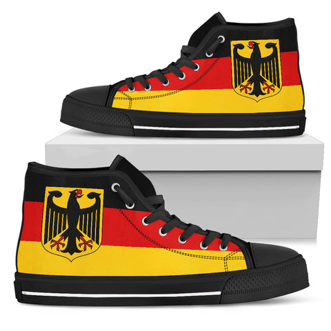 German Flag With The German Eagle Casual Canvas Shoes