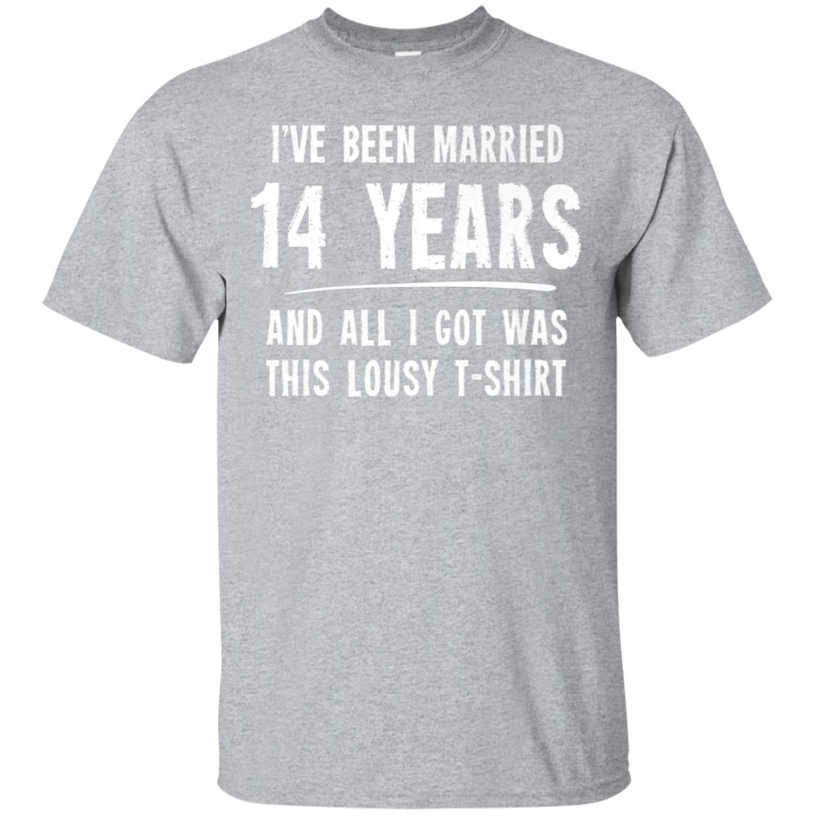 14 Year Anniversary Gift 14th Wedding Married Funny T-Shirt 99promocode