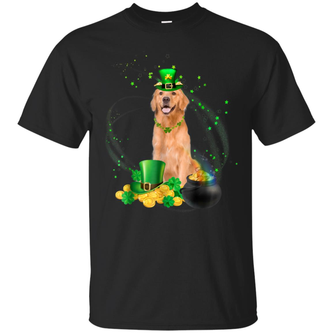 Golden Retriever Patrick's Day T-Shirt- Golden Retriever 99promocode
