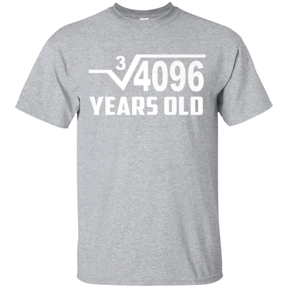 Cube Root of 4096 16 Year Old Birthday T-Shirt Square Tee 99promocode