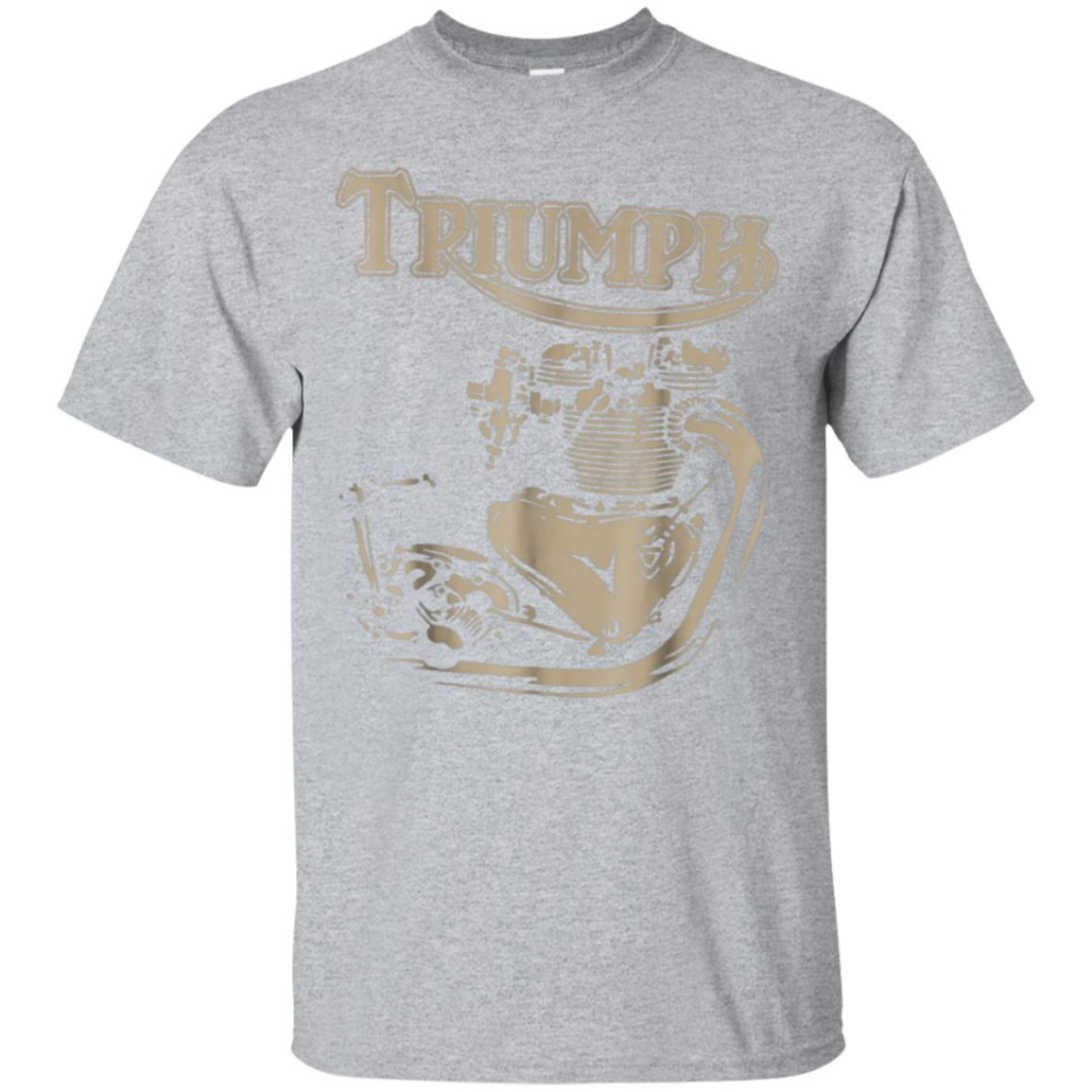 New Triumph Engine Motorcycle Cycling TShirt 99promocode