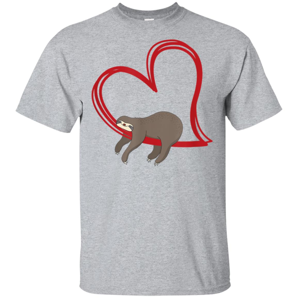 Sloth Valentines T Shirt Girls Women Sloths Valentine Gifts 99promocode