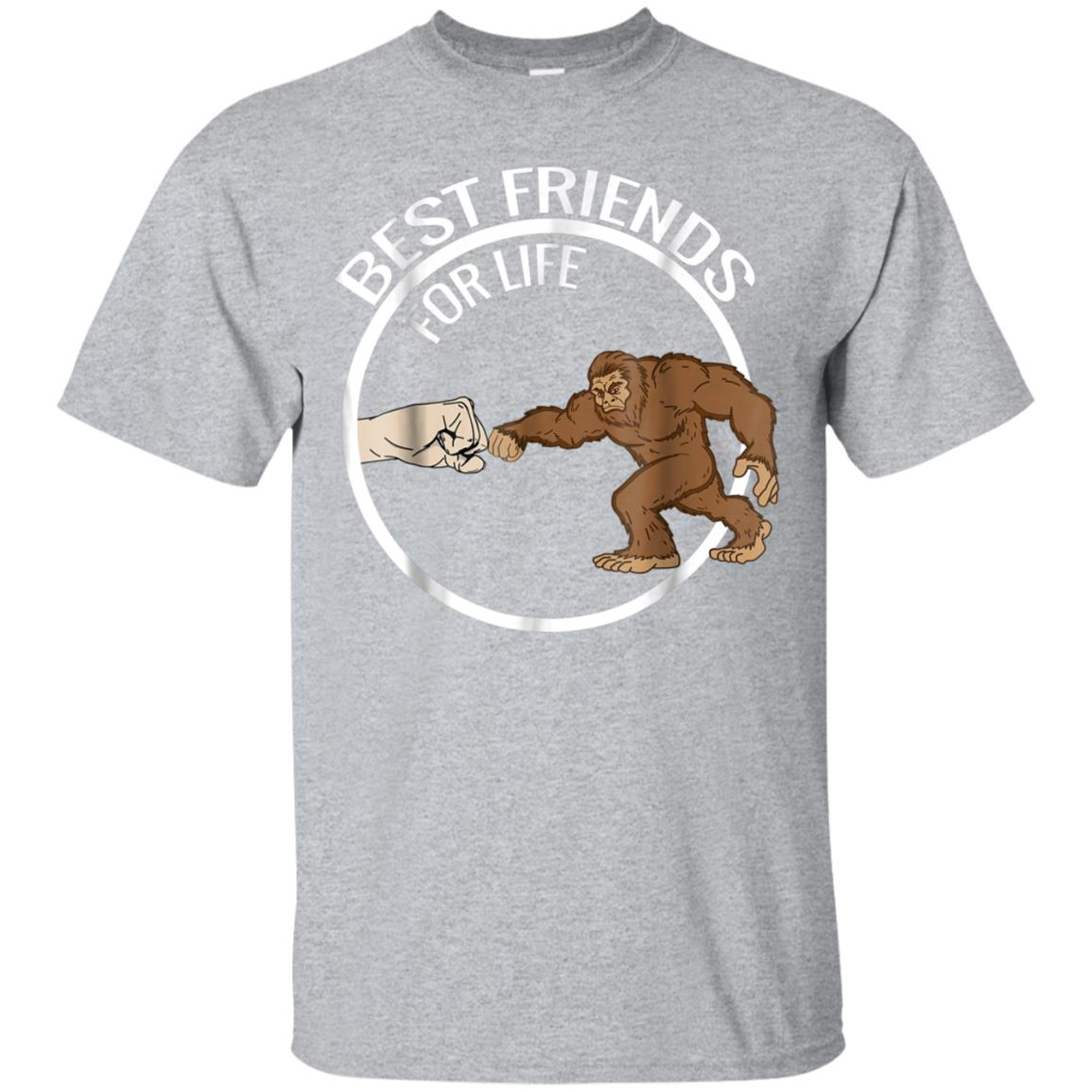 Bigfoot Best Friends For Life Real T-Shirt 99promocode