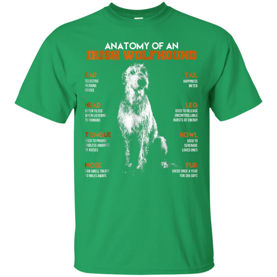 Awesome Anatomy Of An Irish Wolfhound Dogs T Shirt Funny Gift