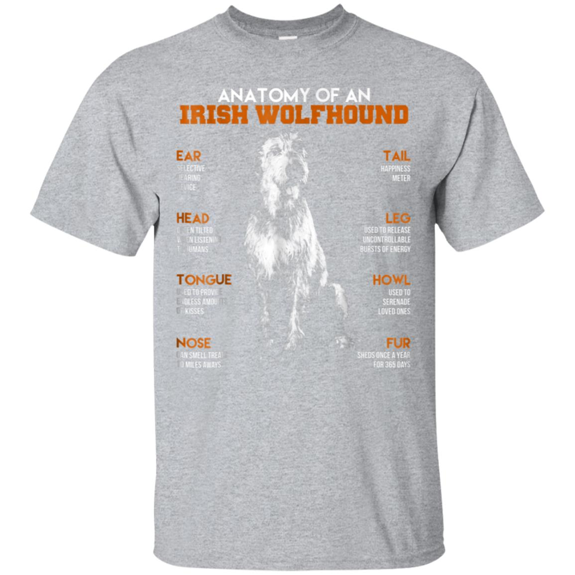 Anatomy Of An Irish Wolfhound Dogs T Shirt Funny Gift 99promocode