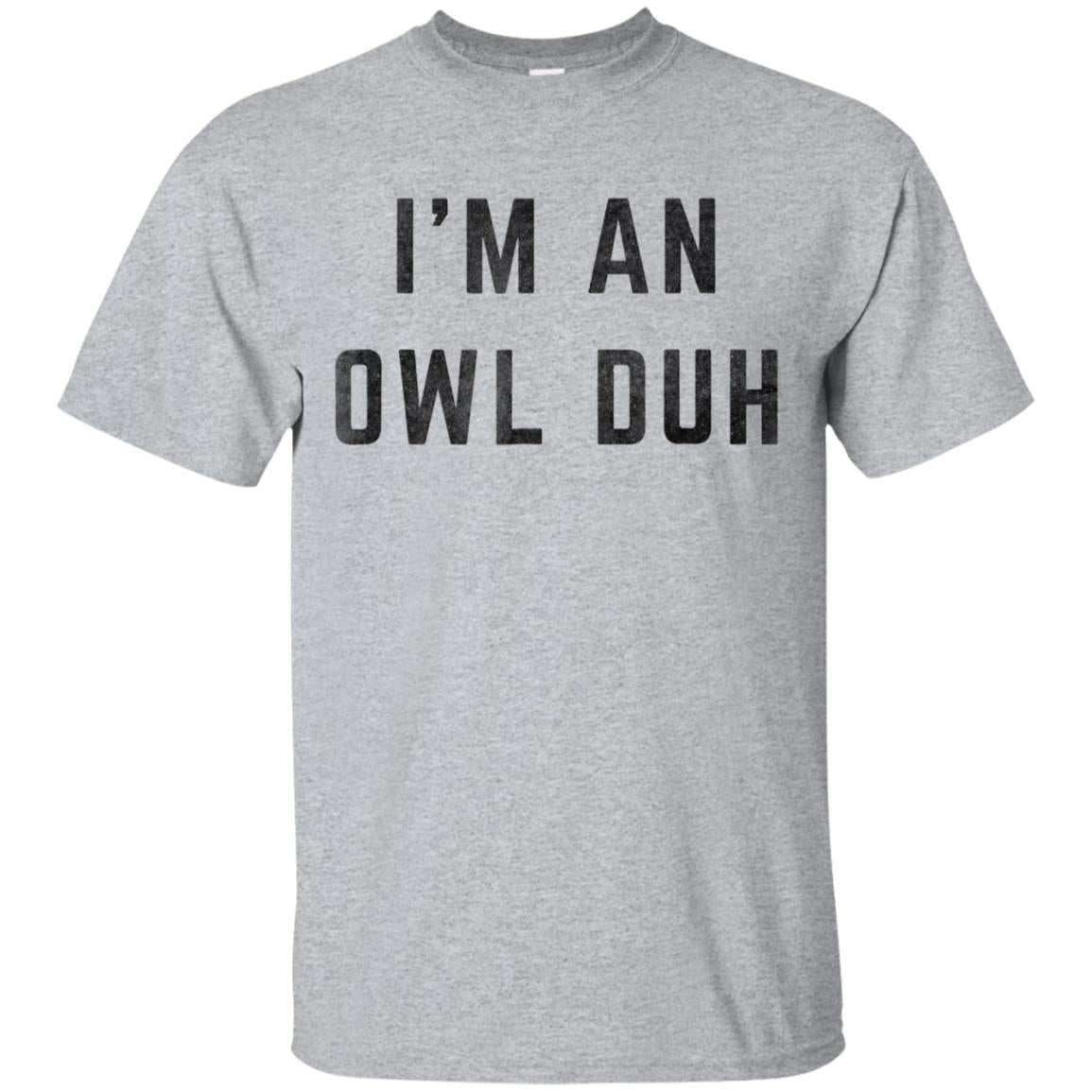 Distressed I'm an Owl Duh Halloween Costume Shirt 99promocode