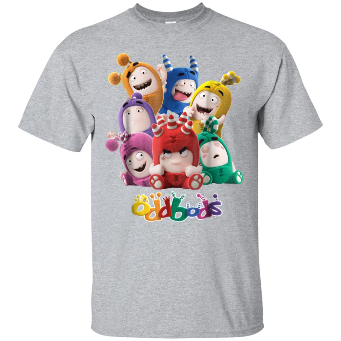 Oddbods All 7 Characters in Cute Funny Poses T Shirt 99promocode