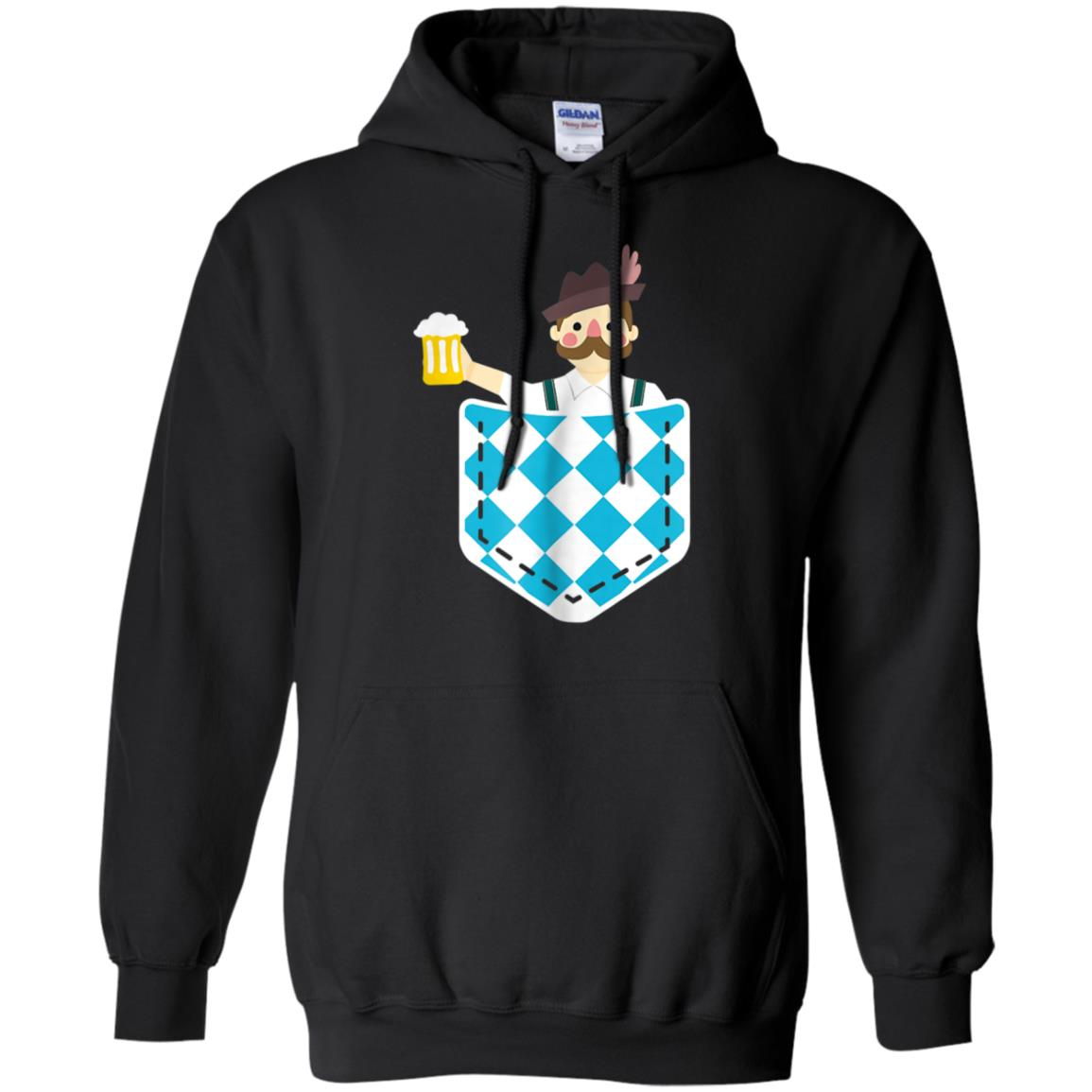 Bavarian Man With Beer In Pocket Funny Oktoberfest T-Shirt 99promocode
