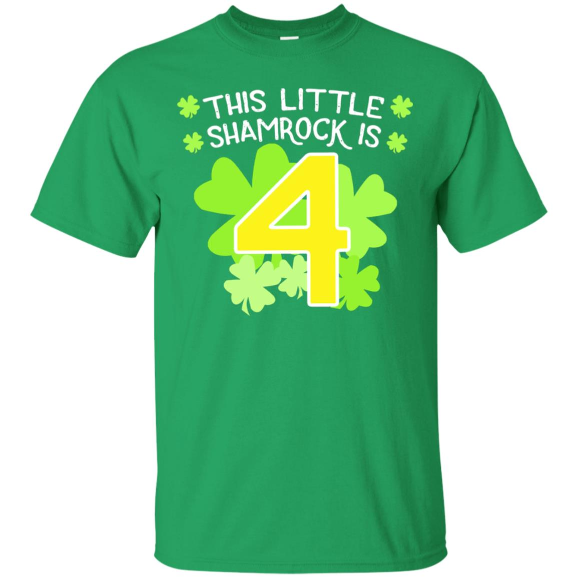Cute St.Patrick's 4th Birthday This Little Shamrock T-shirt 99promocode