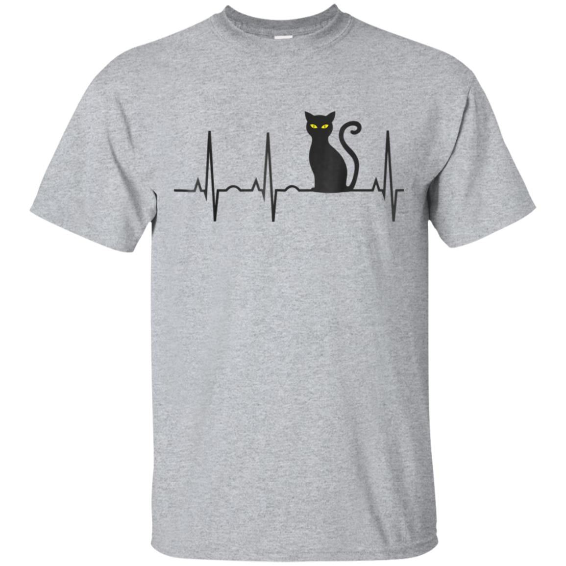 Black Cat Halloween Shirt - Best Spooky Kitty Heartbeat Tee 99promocode