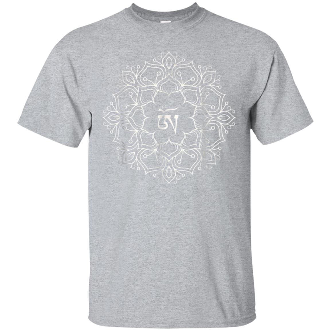 Beautiful Flower Mandala Chakra OM Graphic Yoga T-Shirt 99promocode