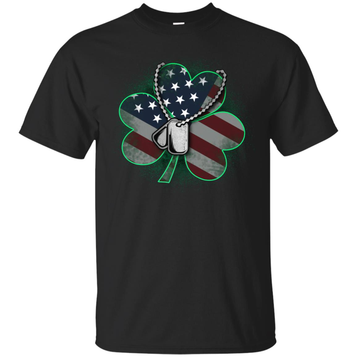 Veteran and Military St Patrick's Day Clover T-Shirt 99promocode