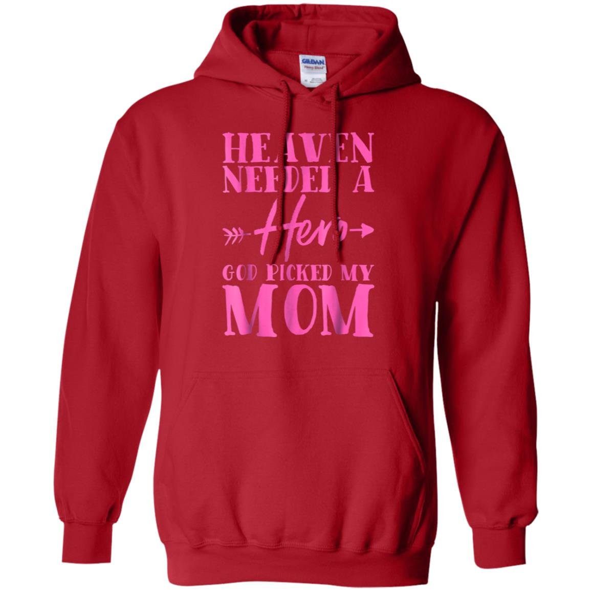 968bb85e Awesome mom heaven needed hero breast cancer awareness gift t shirt ...