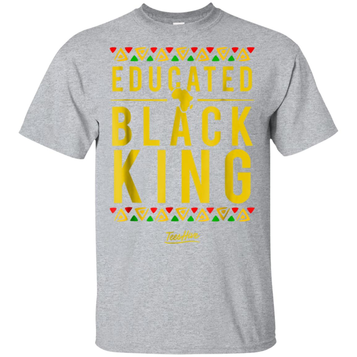 Educated Black King Pro Black Proud African American T Shirt 99promocode