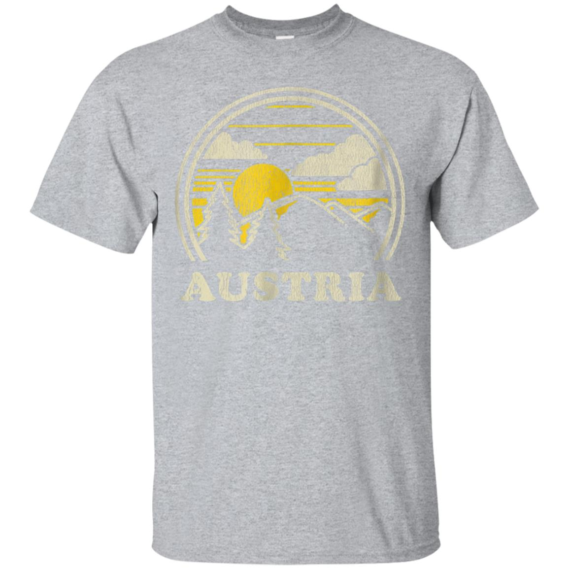 Austria T Shirt Vintage Hiking Mountains Tee 99promocode