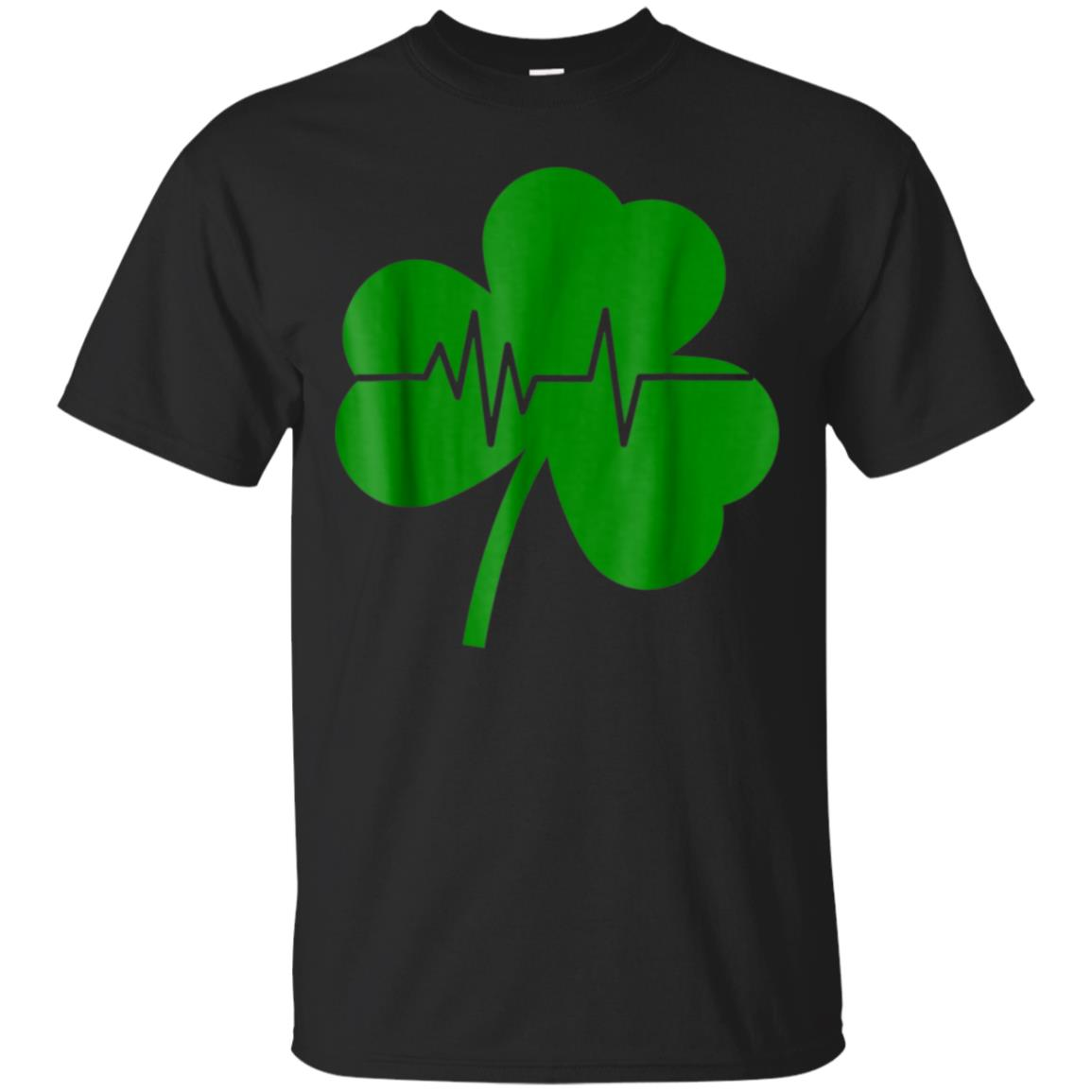 Irish Shamrock Heartbeat St Patrick's Day T-Shirt 99promocode