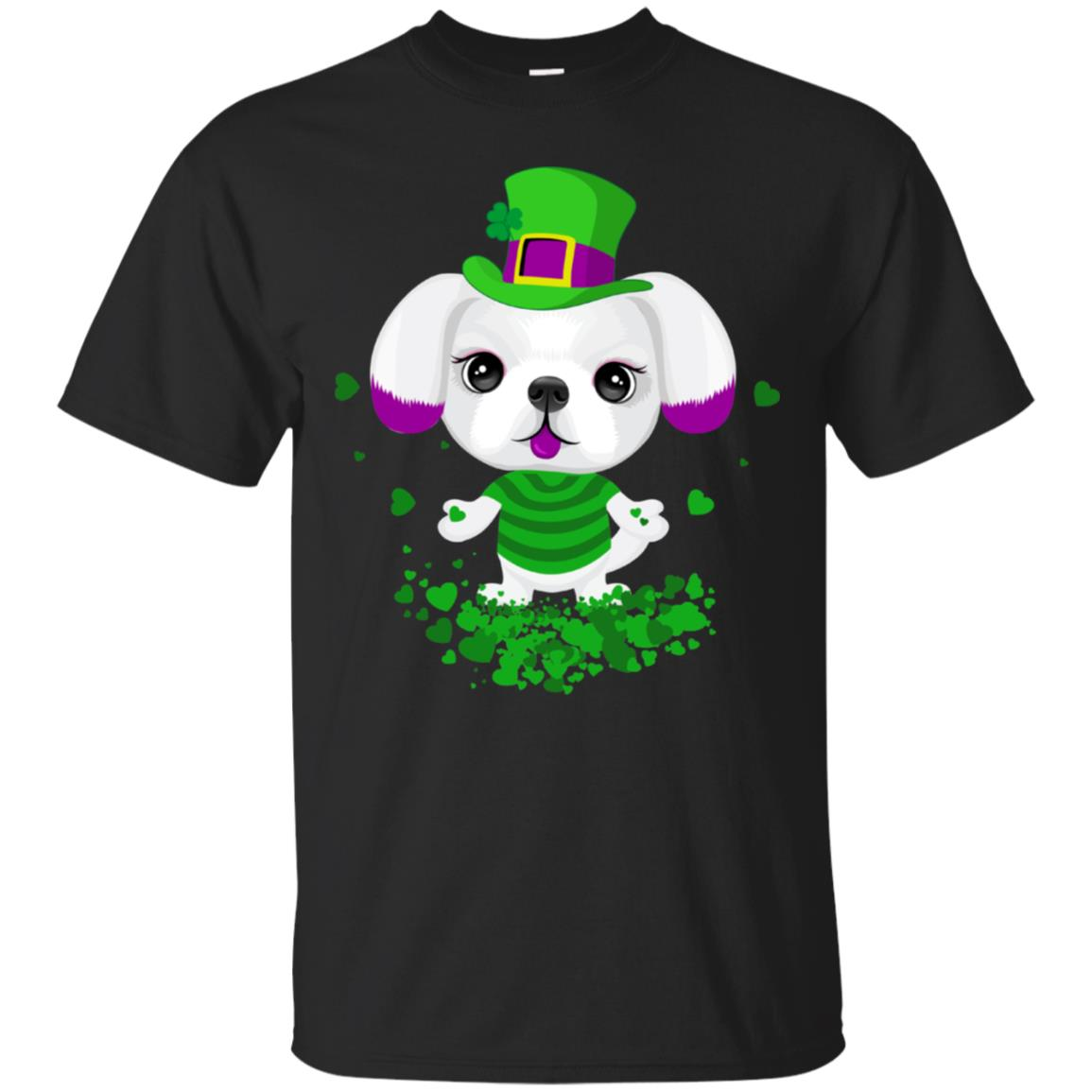 a4c5cd945285 Awesome puppy leprechaun cute puppy st patrick shirt for girls ...