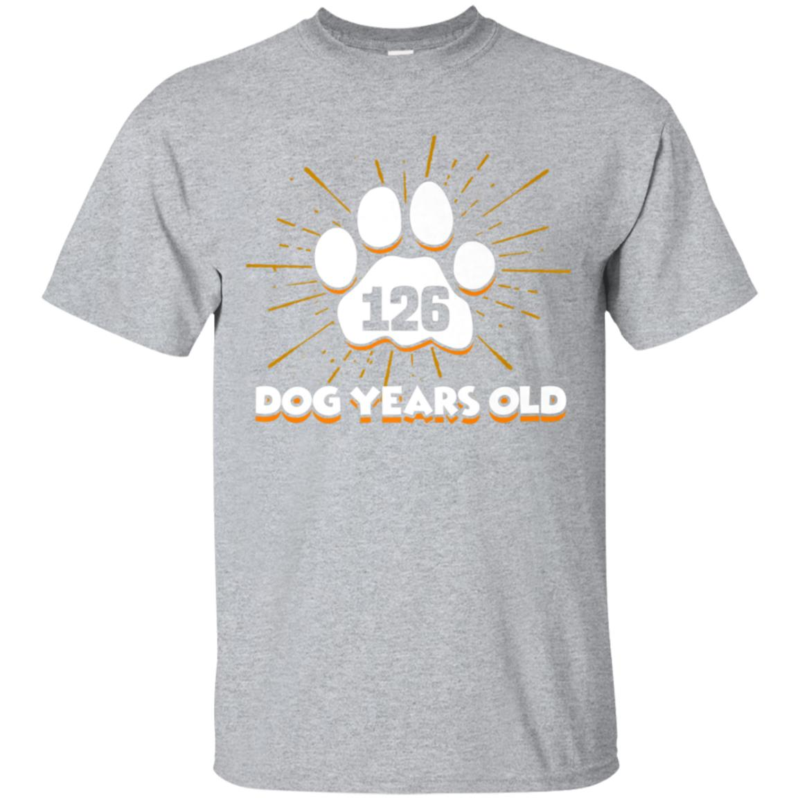 126 Dogs Years Old T-Shirt 18th Birthday Shirt For Dog Lover 99promocode