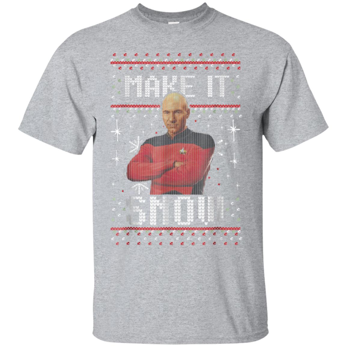 Star Trek Next Generation Make It Snow Graphic T-Shirt 99promocode