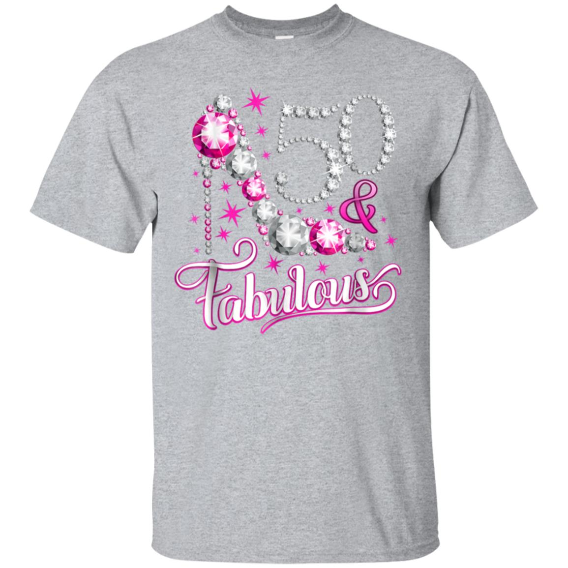 50 Fabulous T Shirt 50th Birthday For Women