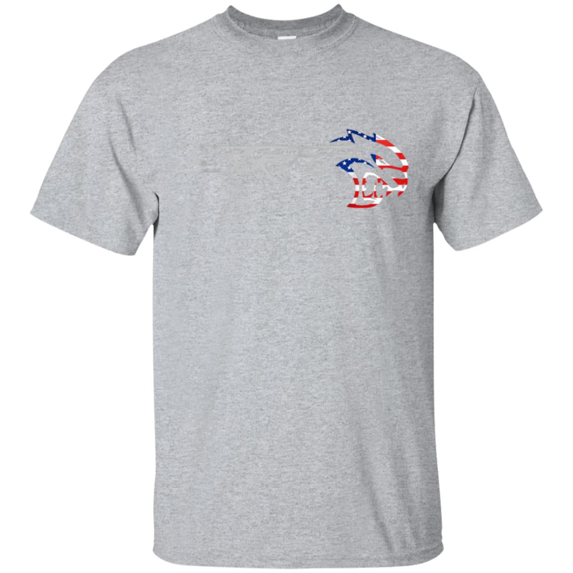 Srt Hell cat Dodge T Shirt (H) Flag US Silver Awesome Gift 99promocode