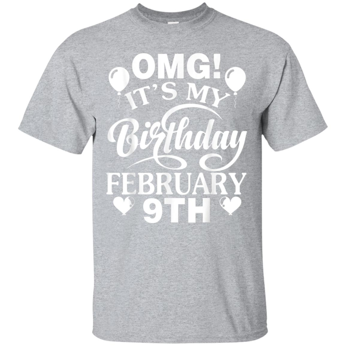 Heart Balloon OMG It's My Birthday February 9th Retro Shirt 99promocode