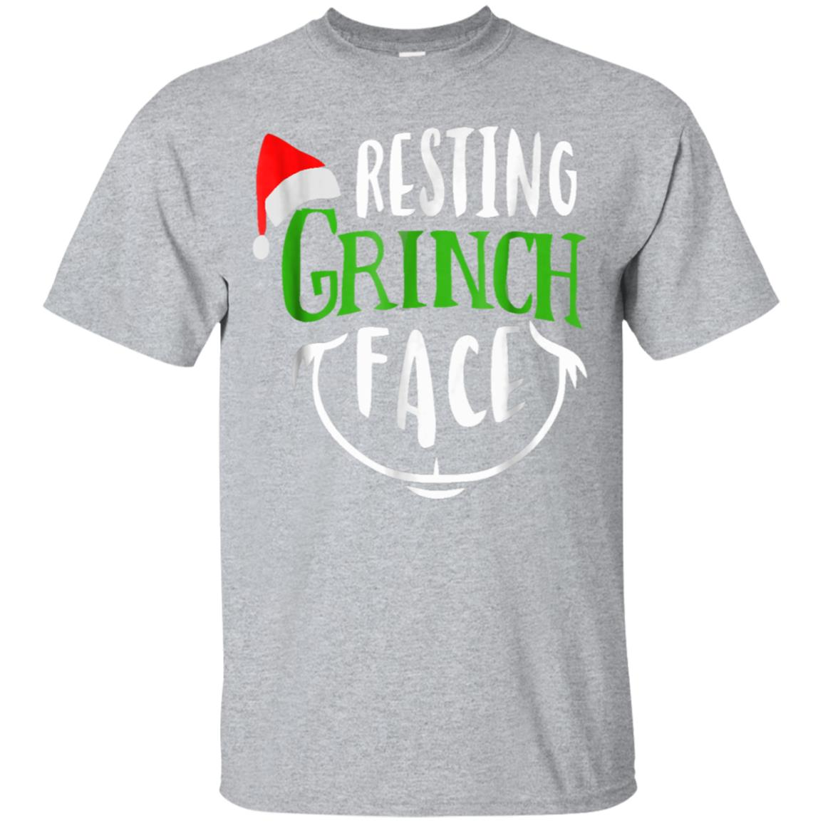 Resting Grinches Face With Santa Hat Christmas Gift T-shirt 99promocode