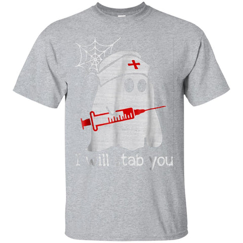 Funny Nursing Halloween T-Shirt I Will Stab You Nurse Boo Bo