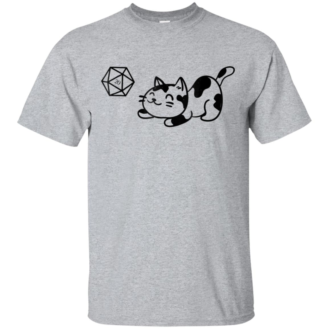 Nerdy Cat with D20 Dice for Cat Lovers Geeky T-Shirt 99promocode