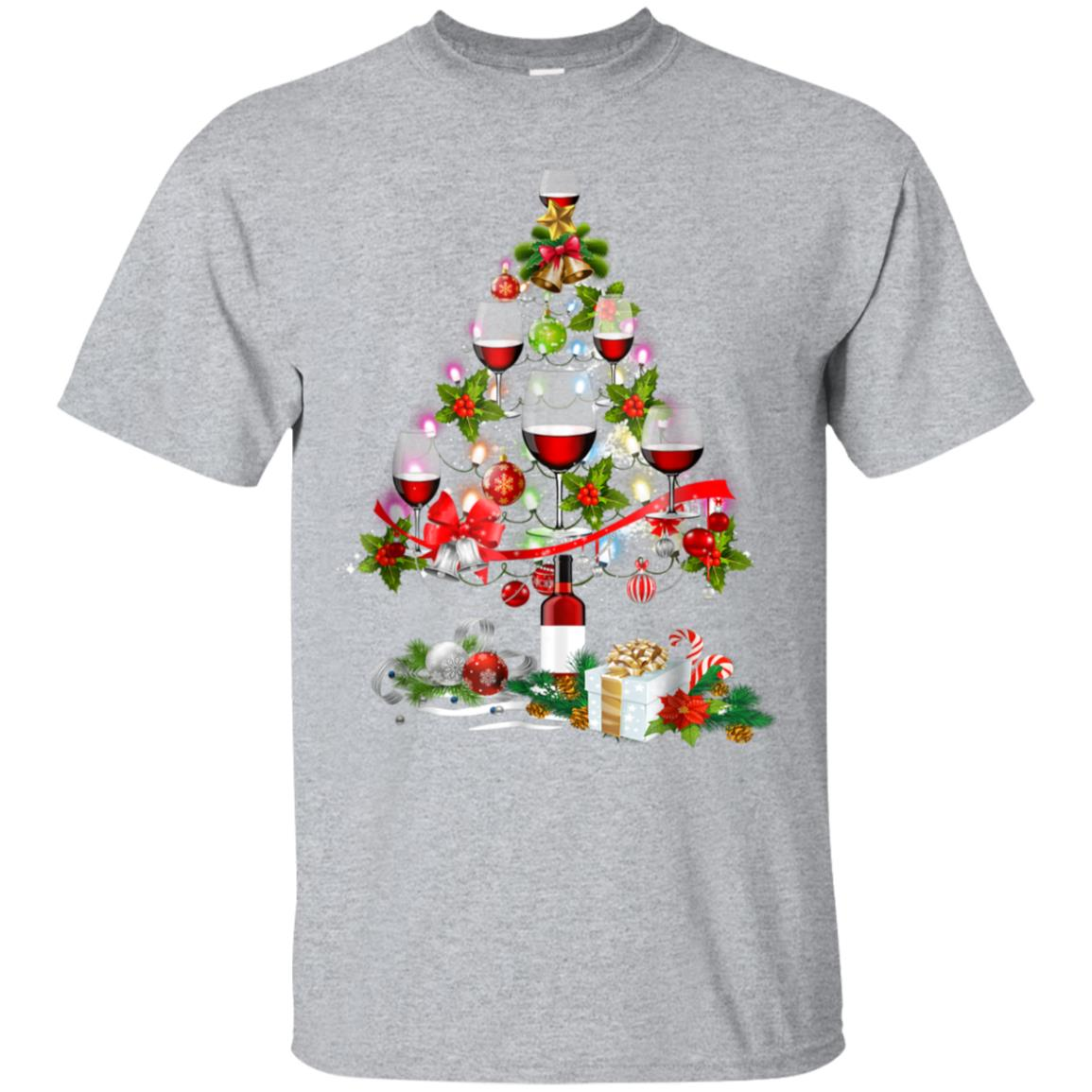 Christmas Tree Wine Glass - Merry Xmas T-Shirt 99promocode