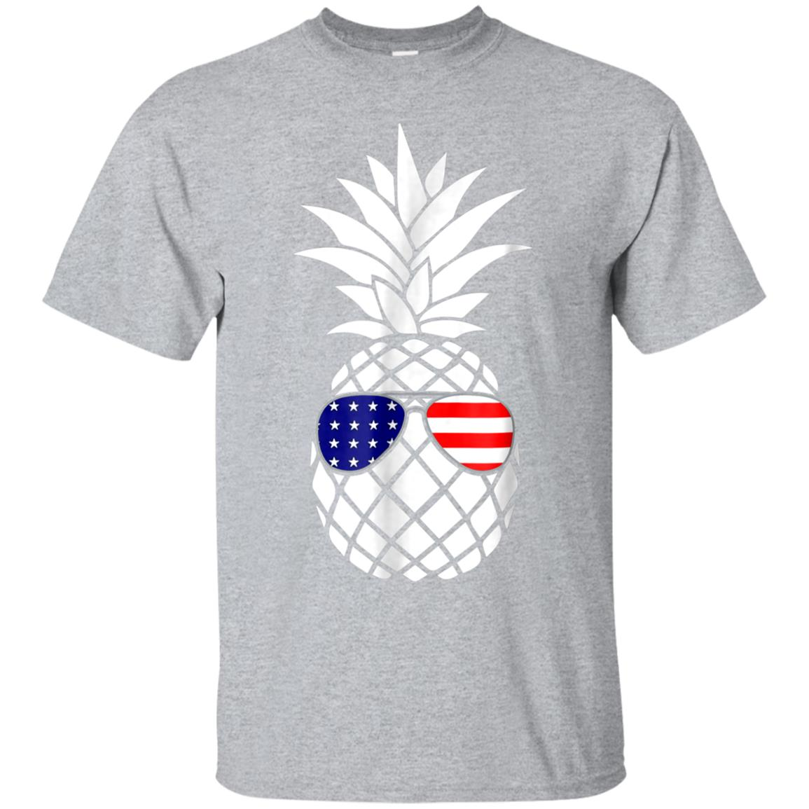 Patriotic Pineapple T-Shirt 4th July Glasses American Flag 99promocode