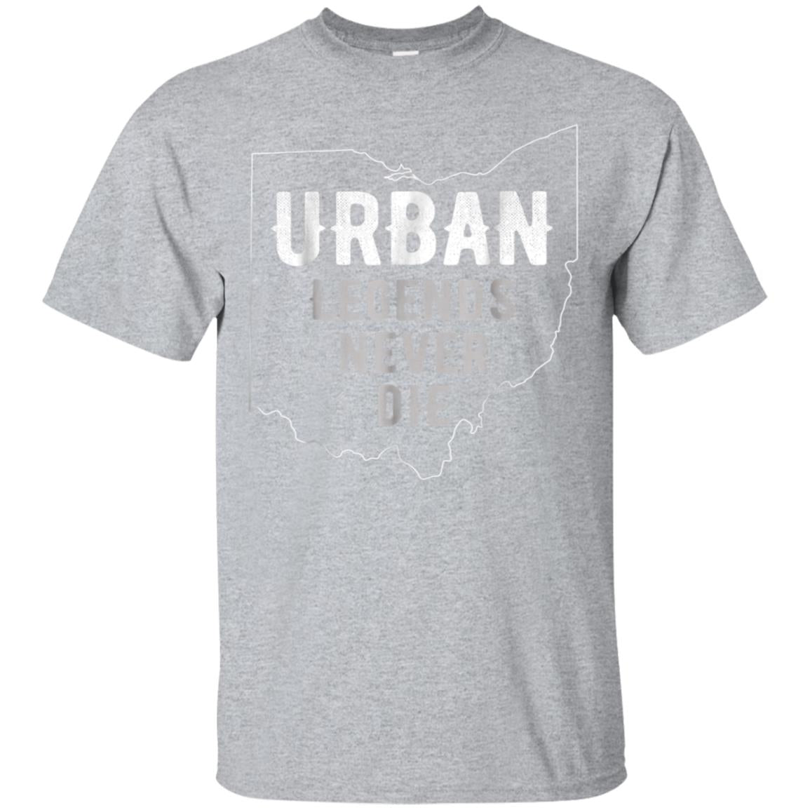 Urban Legends Never Die Ohio OH State Map Design Red T-Shirt 99promocode