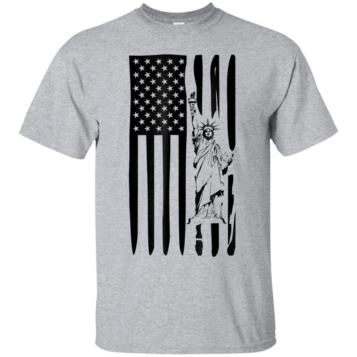 American Flag Statue of Liberty Tee For Patriots 99promocode