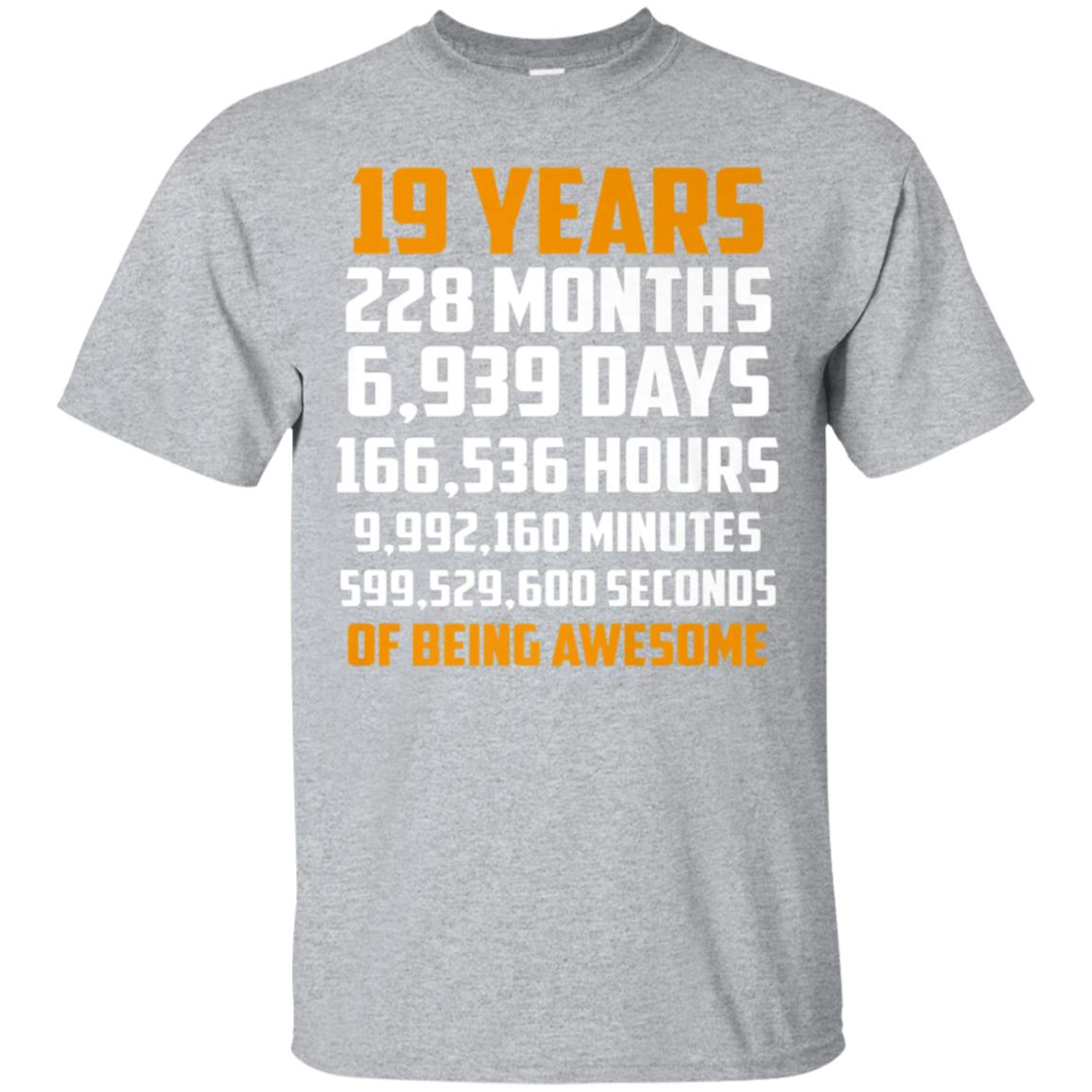 19th Birthday Countdown 19 Years Old Being Awesome T-Shirt 99promocode