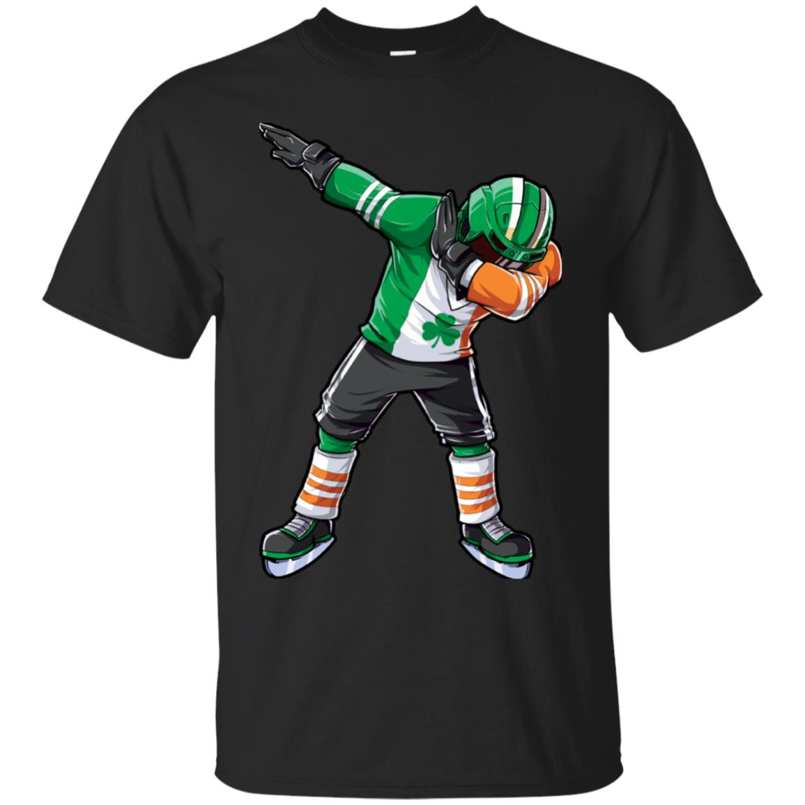 Dabbing Hockey Shirt St Patricks Day Irish Ireland Flag Men 99promocode