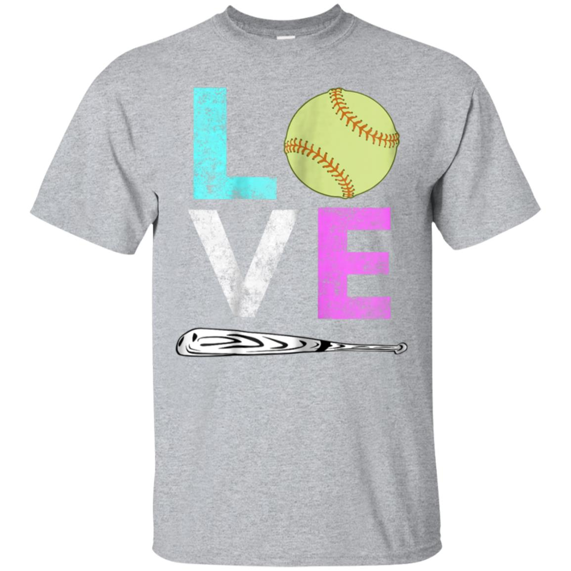 Girls Love Softball Best Fun Birthday Gift TShirt 99promocode