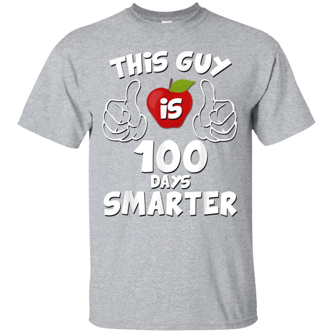 100 Days of School Shirt This Guy is 100 Days Smarter Gift 99promocode