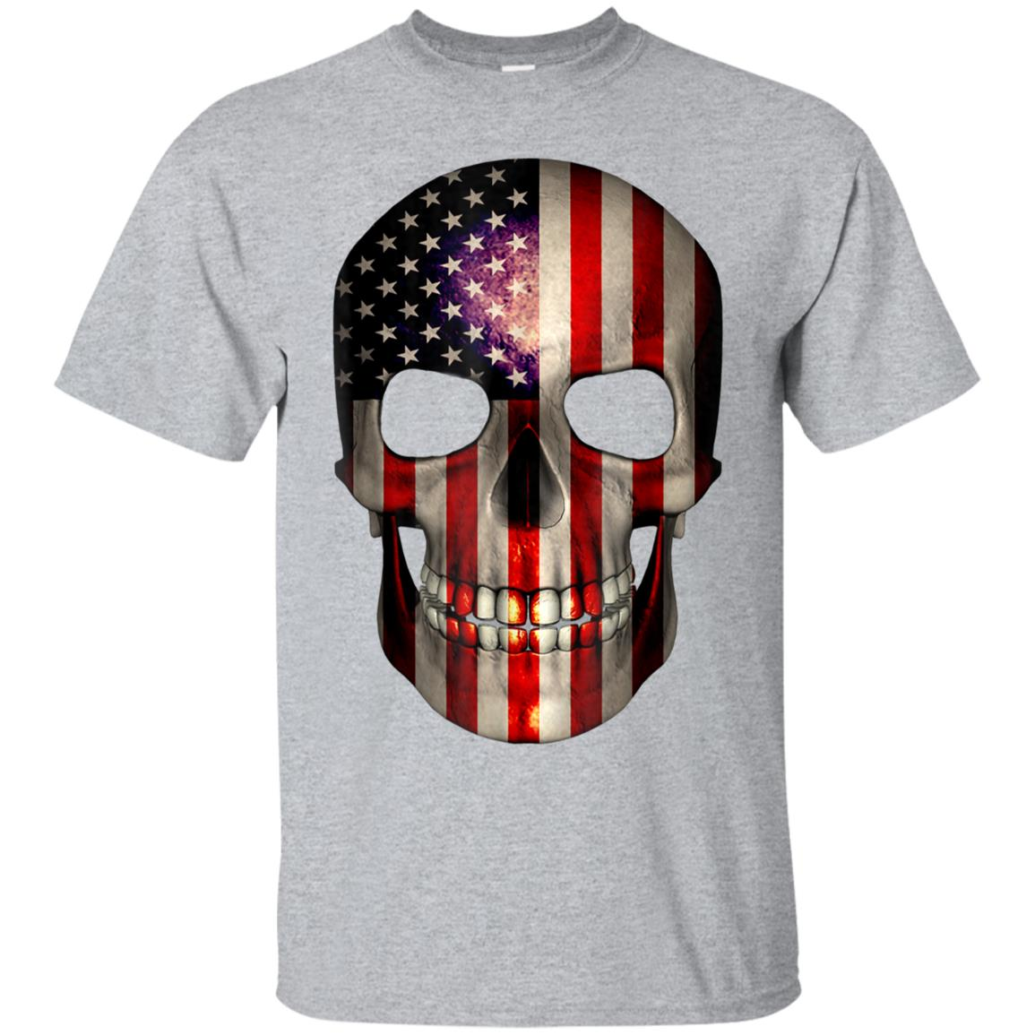 4th of July T Shirt American Flag Skull USA Birthday Gift 99promocode