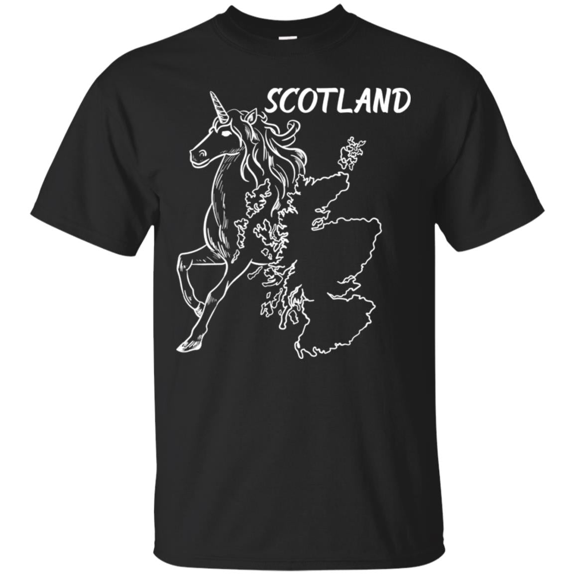 Beautiful Unicorn National Animal Scotland Map T Shirt 99promocode